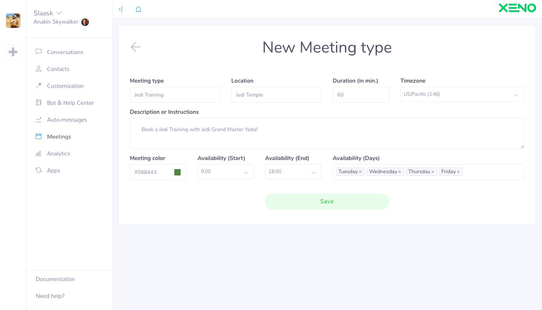 Screenshot Meetings