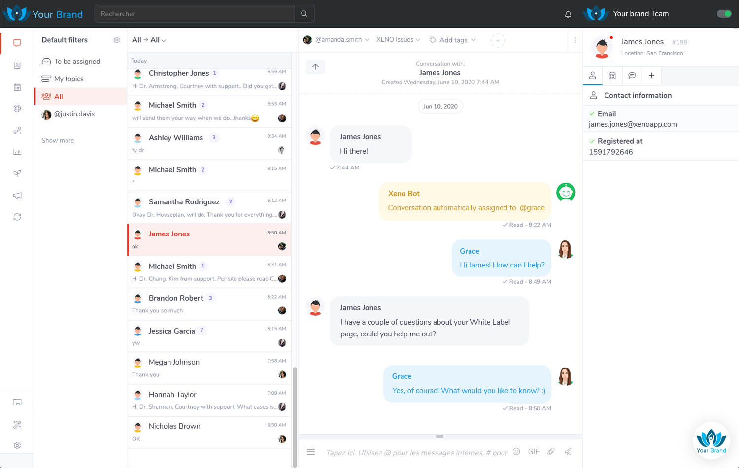 Self-powered CRM screenshot