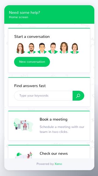 Chatbox Home Screen Xeno